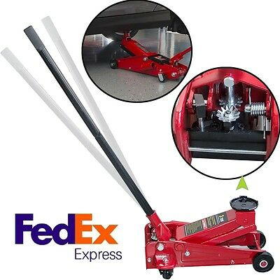 3 Ton Heavy Duty Steel Floor Jack with Rapid Pump Lift Car Vehicle Garage Shop