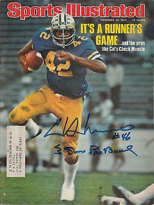 Chuck Muncie Signed Auto'd Sports Illustrated 11/24/75 Nfl Cal Bears Chargers