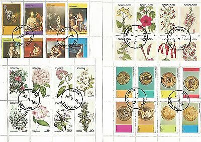 Mini Sheets 8 CTO,  Nice, See Scans