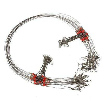 2/5/10 Pcs Fishing Wire Leader Trace With Snap Fit various fishing conditions