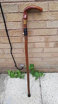 Lovely Vintage Walking Stick with Carving Looks to be A Tree Branch 94cm Long