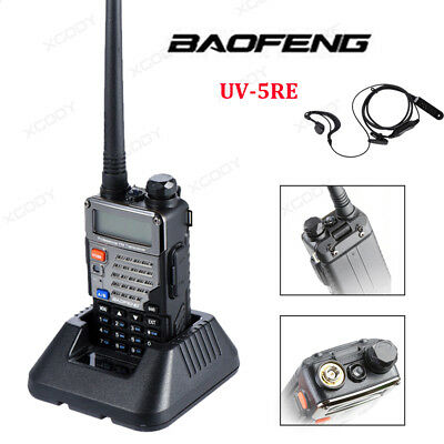 BAOFENG UV-5R UHF/VHF 4W/1W Walkie Talkies + Earpiece,128CH,VOX,CTCSS,FM Radio