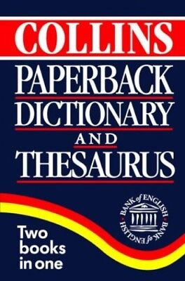 Collins Paperback Dictionary and Thesaurus Paperback Book The Cheap Fast Free
