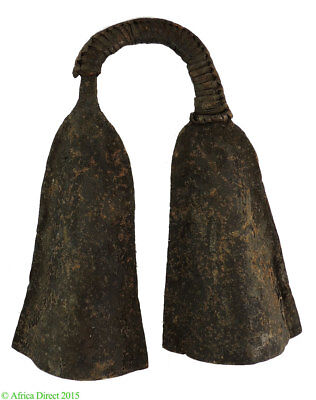 Bamileke Large Iron Double Gong Currency Cameroon Africa