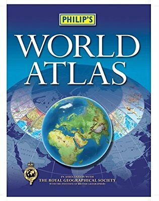 Philip's World Atlas: Paperback by Philip's Paperback Book The Cheap Fast Free