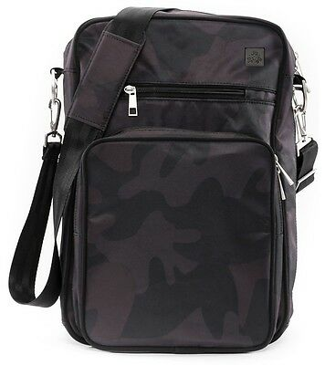Ju Ju Be XY Helix Baby Messenger Diaper Bag w/ Changing Pad Black Ops NEW