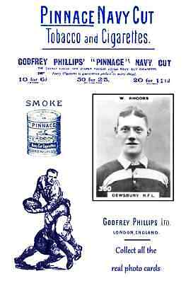 DEWSBURY Rugby League - Pinnace 1920's repro advertising cards