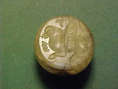 Sassanian dome seal of agate (winged creature)  circa 224-642 AD.