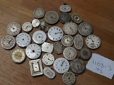 Good Lot Of 30 Mixed Ladies Wristwatch Movements For The Watch Maker