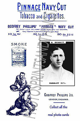 HUNSLET  Rugby League - Pinnace 1920's repro advertising cards