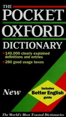 The Pocket Oxford Dictionary of Current English by OUP Hardback Book The Cheap