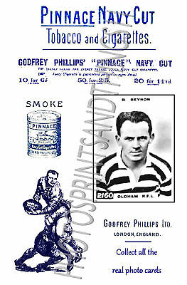 OLDHAM Rugby League - Pinnace 1920's repro advertising cards