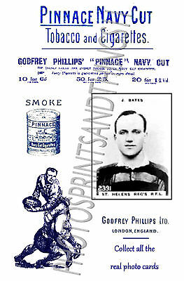 ST HELENS RECS Rugby League - Pinnace 1920's repro advertising cards