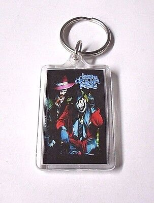 New INSANE CLOWN POSSE Rap HIP HOP Lucite KEYRING Big Money Hustlas ICP Key-Fob