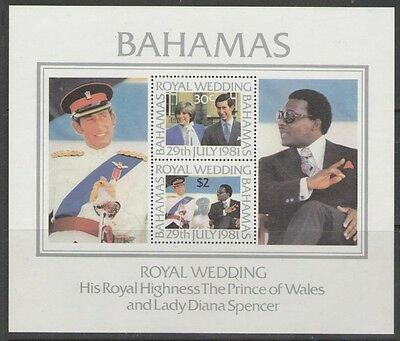 Bahamas Sgms588 1981 Royal Wedding Mnh