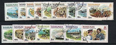 Bahamas Sg557/72 1980 Definitive Set Fine Used