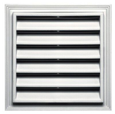 "Builders Edge 120051212117 Square Gable Vent, 12"" x 12"", White"
