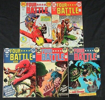 Four Star Battle Tales (1973) DC #1-5 High Grade VF to NM 8.0-9.2 CA684