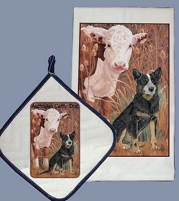 Dish Towel & Pot Holder - Australian Cattle Dog DP998