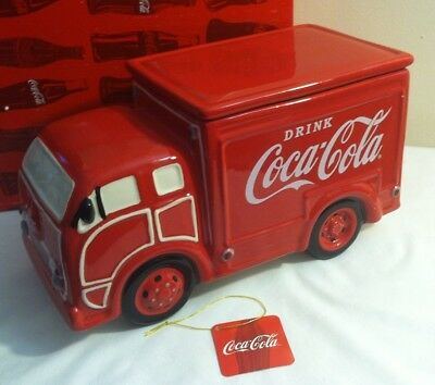 Coca Cola Coke Red Delivery Truck Cookie Jar NIB by Westland
