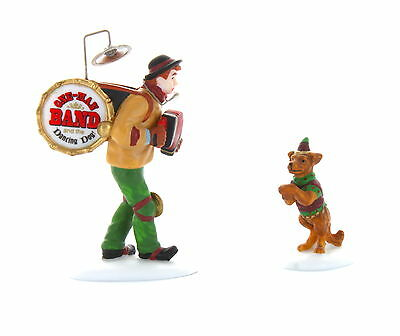 Dept 56 Christmas In The City *one Man Band And The Dancing Dog* 58891 Set 2 New