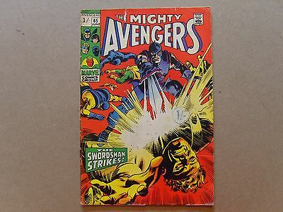 THE MIGHTY AVENGERS (1969) #65 - UK PRICE VARIANT COPY - MARVEL COMICS  pb