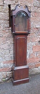 ANTIQUE Grandfather LONGCASE CLOCK Oak CASE Only EMPTY For RESTORATION