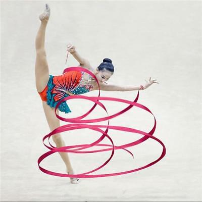 Gym Dance Ribbon Rhythmic Art Gymnastic Streamer Baton Twirling Rod Stick CB