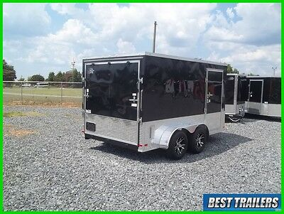 2017 finished 7 x 12 enclosed double motorcycle trailer cargo 7x12 new v nose