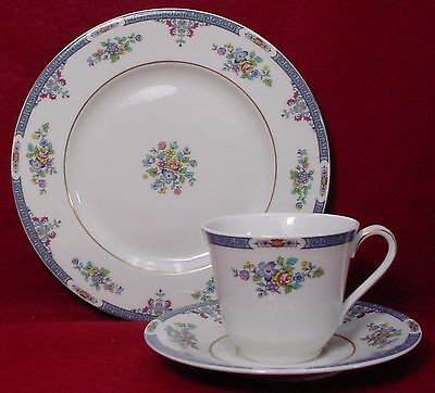 ROYAL DOULTON china COTSWOLD TC1121 pattern CUP SAUCER SALAD PLATE Trio