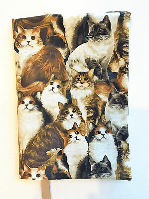 FABRIC Paperback Book Cover Standard Paperback Book CAT Print Fabric All Breeds