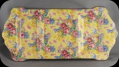 Vintage Royal Winton Welbeck 3 Compartment Condiment Chintz Tray Plate
