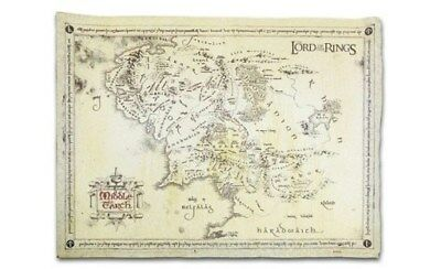 LORD OF THE RINGS ~ PARCHMENT MIDDLE EARTH MAP 18x26 MOVIE POSTER Shire Hobbit