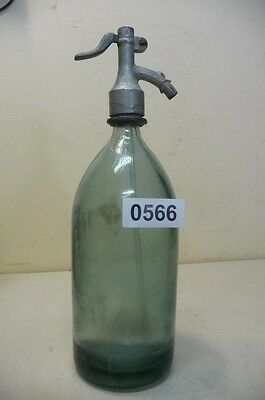 0566. Alte Sodaflasche  Siphonflasche 1 l Old soda siphon seltzer