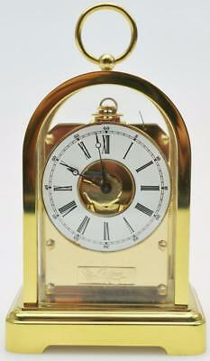 Beautiful Vintage Small French Gilt Brass Arched Case Striking Carriage Clock