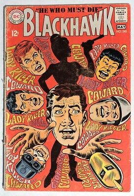 S241. BLACKHAWK #240 by DC 2.5 GD+ (1968) SILVER AGE, DICK DILLIN Cover & Art