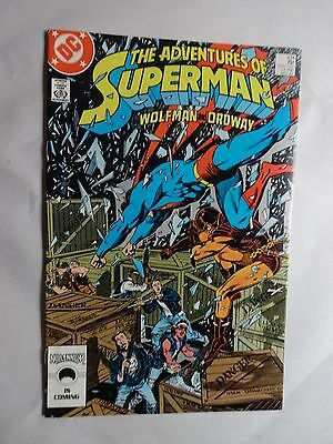 Adventures of Superman #434   High Grade VF/NM   Jerry Ordway   Marv Wolfman