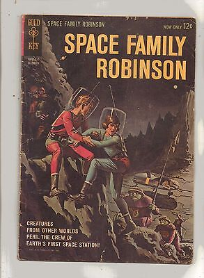 SPACE FAMILY ROBINSON No 1 Earth's First Space  Station! (pin-up back cover)