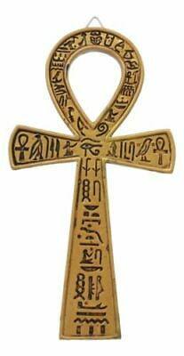 Small Crux Ansata Egyptian Golden Ankh Wall Decor Figurine For Life And Vitality