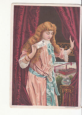 Wilcox & White Organ Co Letter Goldfish D S Andrus Williamsport PA Card c 1880s