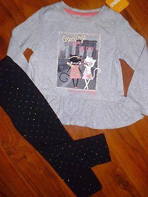 3 T Gymboree BABY GAP 2pc KITTY Swing Top Black Leggings Toddler Outfit Girl NWT