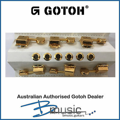 Gotoh SD91-05M Kluson Style Machine Heads - Gold - Open Box - No mounting screws
