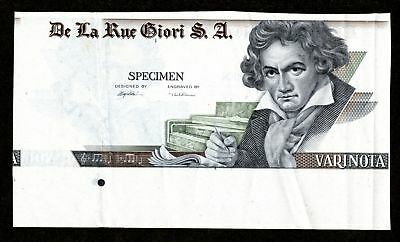 Italy Varinota DuraNote Polymer Specimen feat. Beethoven Trial Test Note