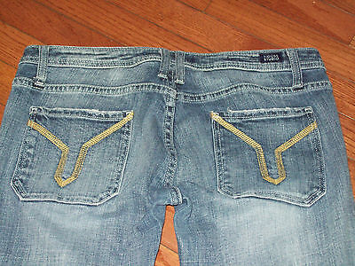 Womens Juniors Vigoss The Ritz Skinny Low Stretch Destroyed Jeans Size 11/12