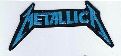 Metallica Logo Blue Embroidered Patch !