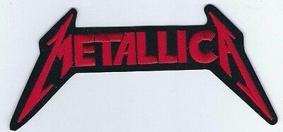 Metallica Logo Red Embroidered Patch !