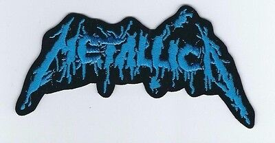 Metallica Blood Logo Blue Embroidered Patch !