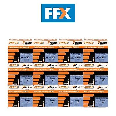 Paslode 141185/12 12 x 2500 Box of 35mm Twisted Nails and 2 Cells Kit