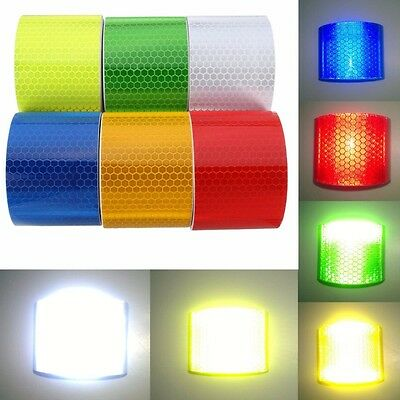 3 Meters 4 Colors Car Reflective Safety Warning Conspicuity Roll Tape Film UK