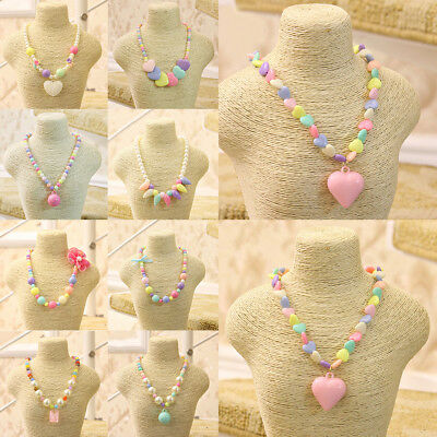 Beads Kids Princess Girls Necklace New Children Candy Color Fashion Jewelry